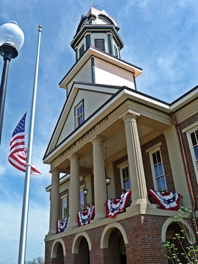 Chatham County courthouse as rebuilt after fire on grand opening day
