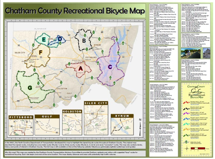 Chatham Rec Bike Loop Map Front