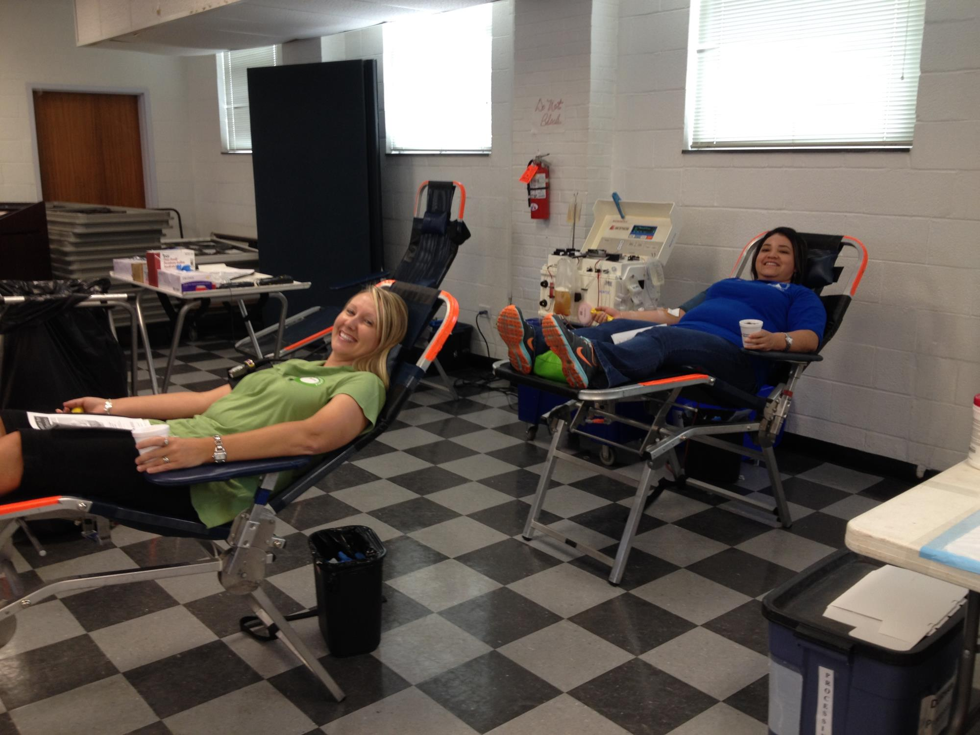 Azucena,Andrea at Sept Blood Drive