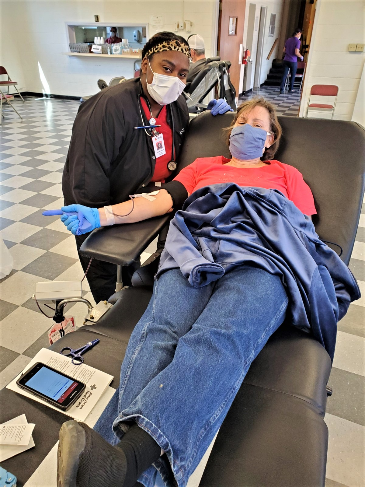 Donor Audrey Joy - Red Crosser Tabitha Burton